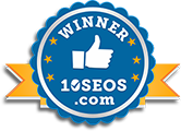 winner badge logo for Over The Top SEO
